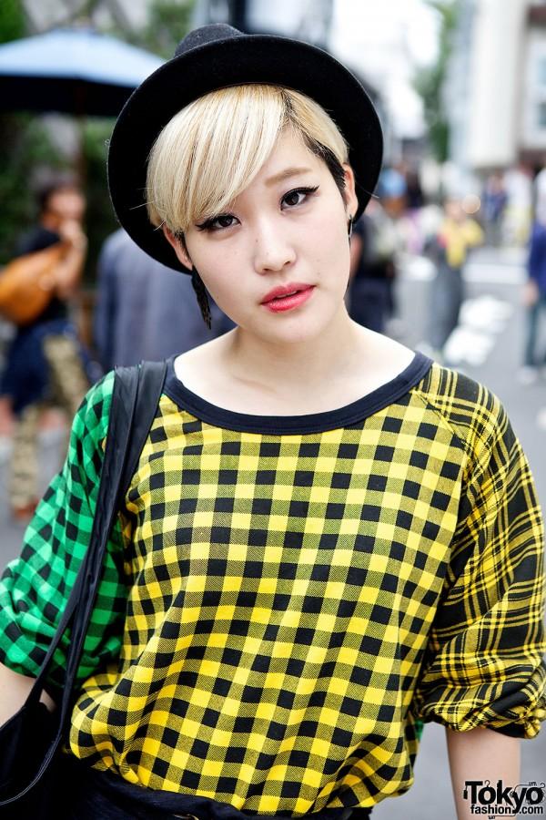 Colorful Checkered Sweatshirt