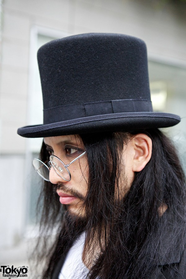Top Hat & Round Glasses