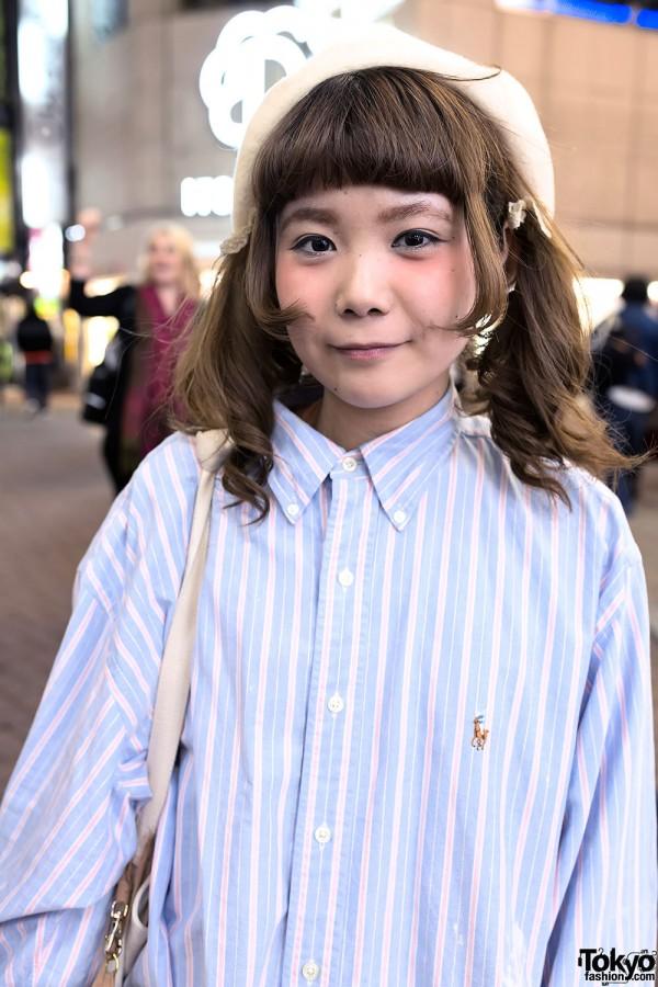 Oversized Shirt & Twintails in Shibuya