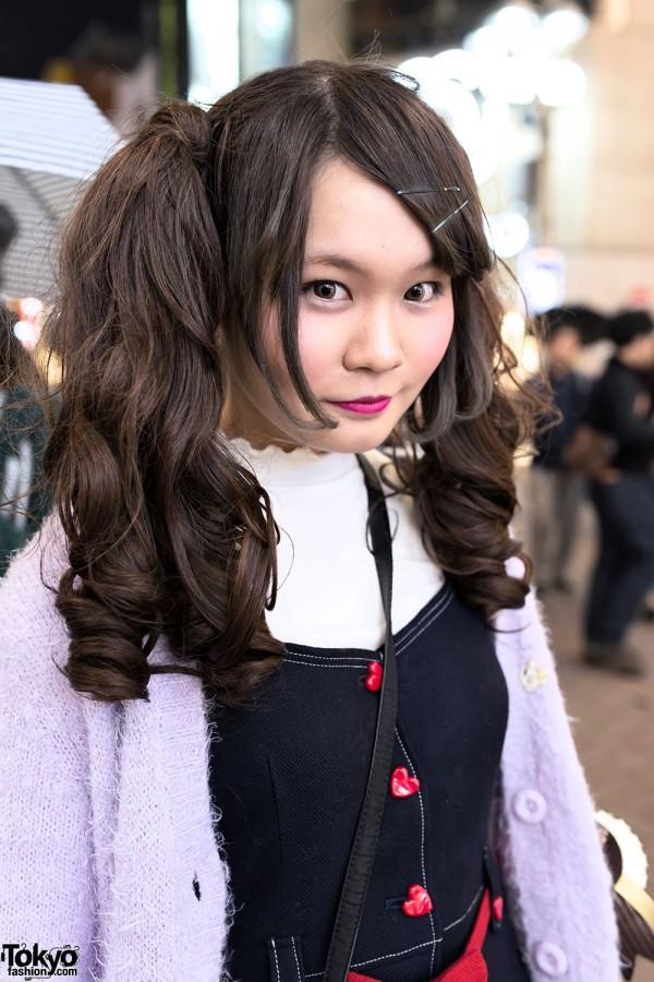 Cute Twintails & Milk Heart Button Dress