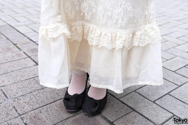 Vintage Grimoire Dress & Heels