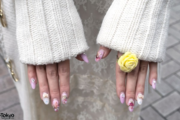Rose Ring & Japanese Angel Nail Art