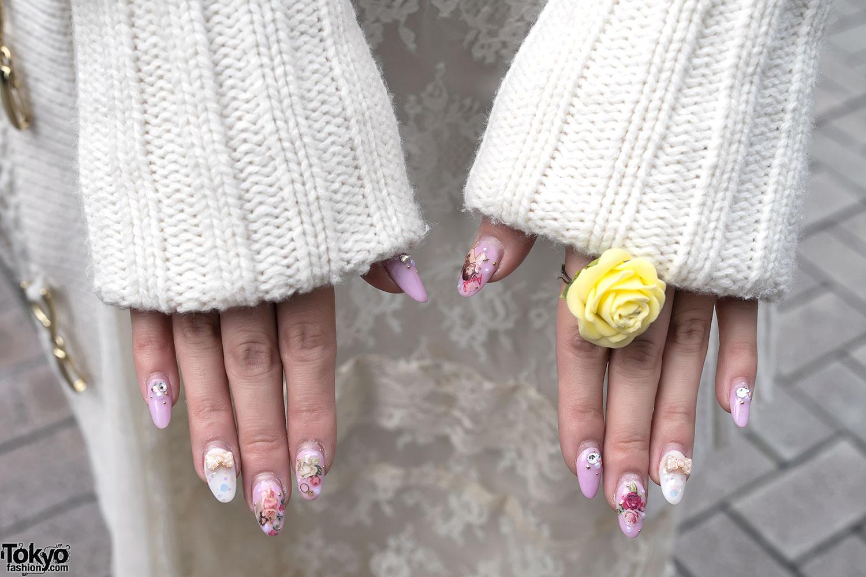 Rose Ring & Japanese Angel Nail Art – Tokyo Fashion News