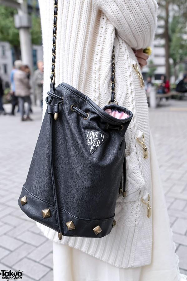 Studded Bucket Purse in Tokyo