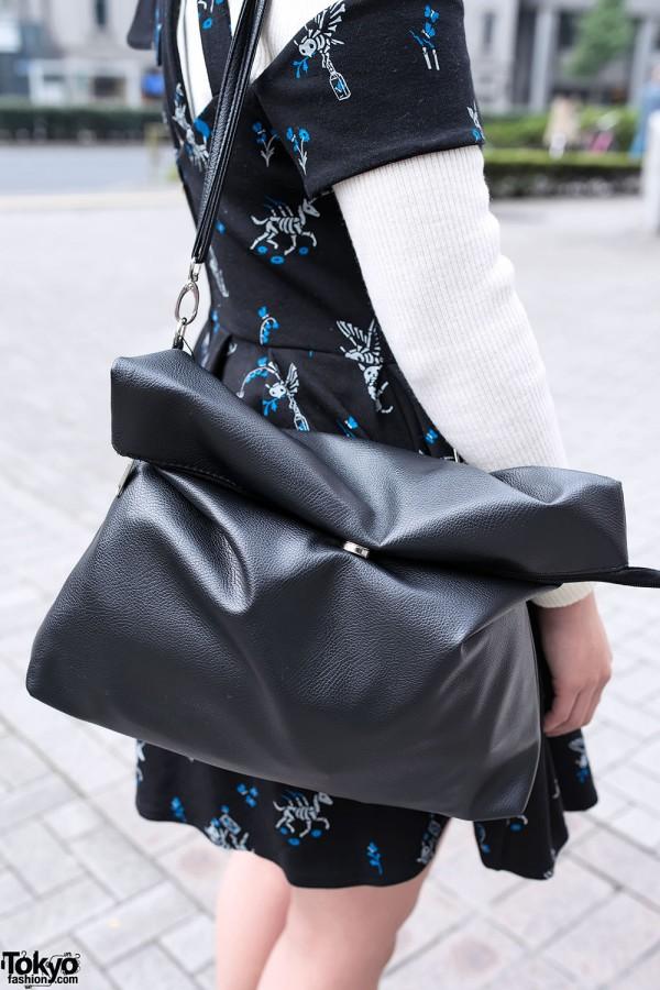 Black Leather Purse from WEGO