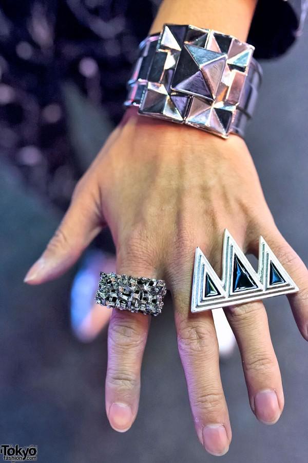 Geometric Silver Rings