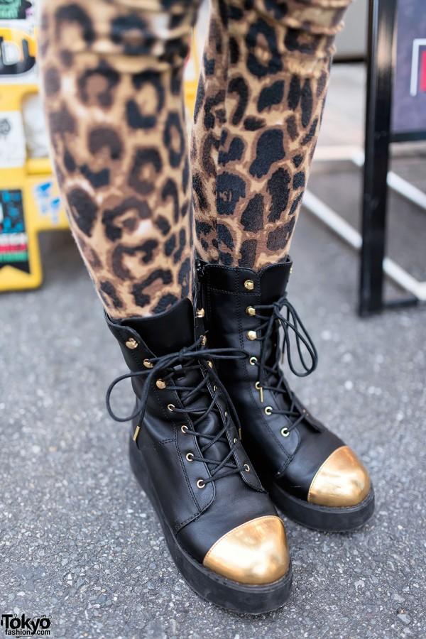 Metal Toe Boots & Leopard Print