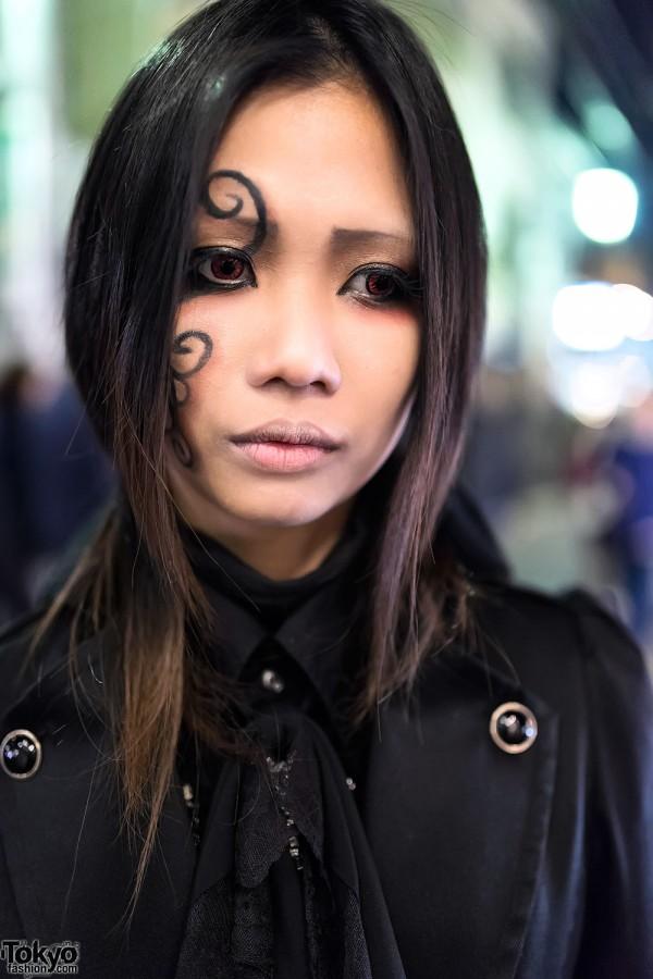 Gothic Makeup in Harajuku