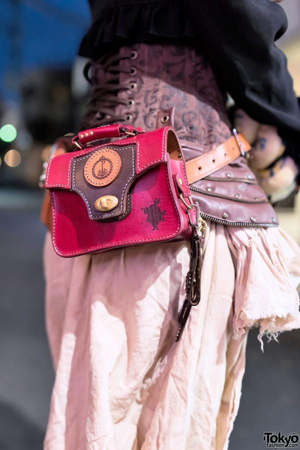 Leather Alice in Wonderland Waist Bag