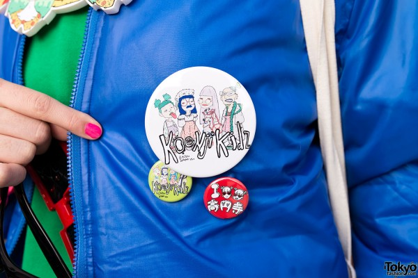 "Lactose Intoler-art ""Koenji Kids"" Button"