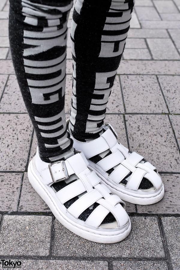 White Dr. Marten's Sandals