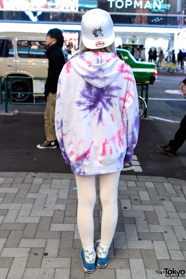 Tie Dye Hooded Sweater Dress