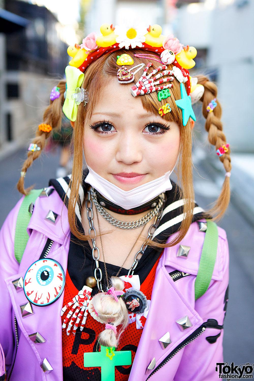 Harajuku Decora w/ Biker Jacket, Tulle Skirt, Claw Shoes & 6%DOKIDOKI