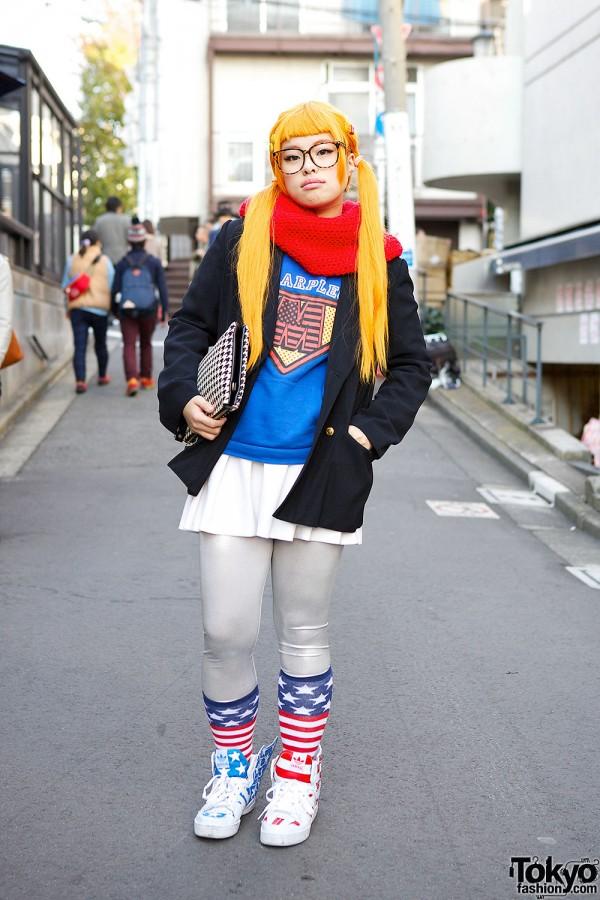 Famiia Jacket & Winged Sneakers in Harajuku