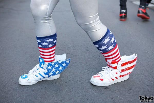 Jeremy Scott Wing Flag Sneakers