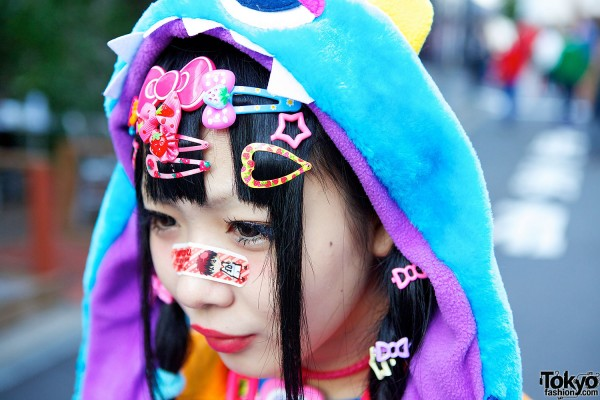 Decora Face Stickers & Hair Pins
