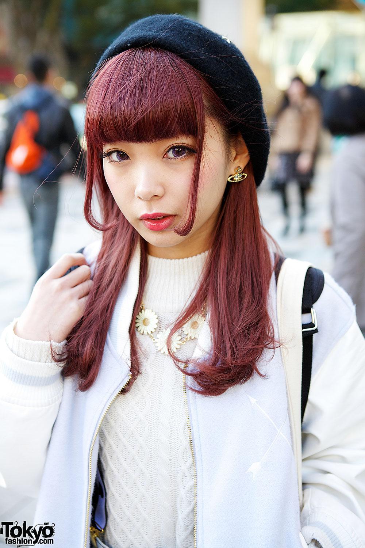 BonBon Stadium Jacket, Cable Knit & Baby Face Backpack in Harajuku