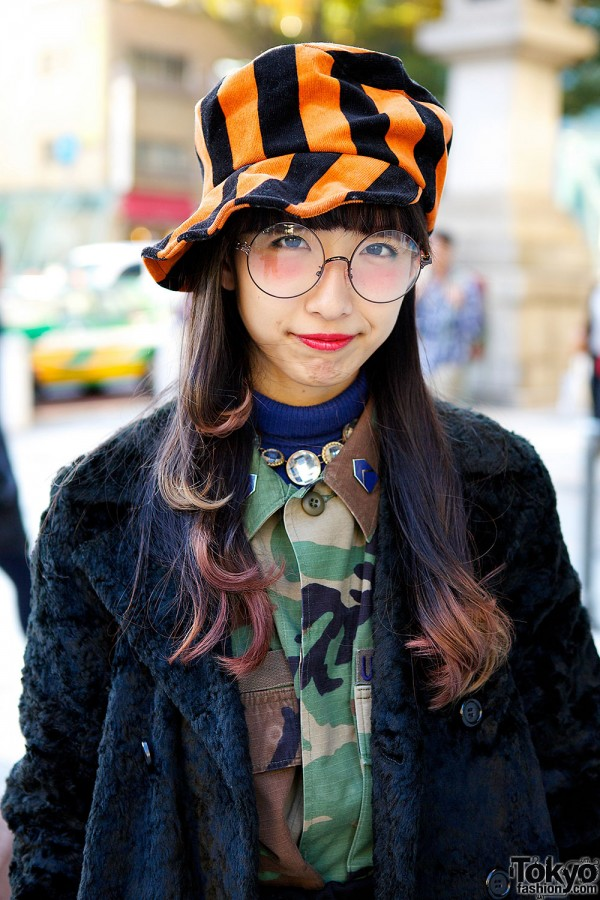 Camouflage Shirt & Statement Necklace