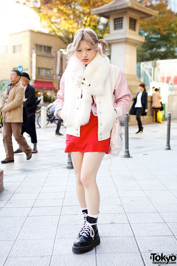 American Apparel Bomber & Dr. Martens Boots in Harajuku