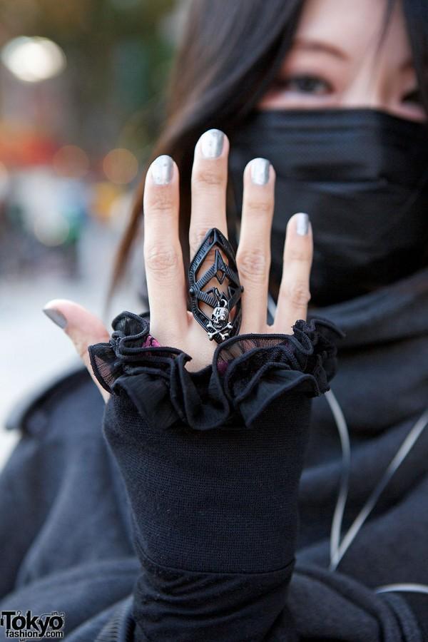 h.NAOTO Armor Skull Ring