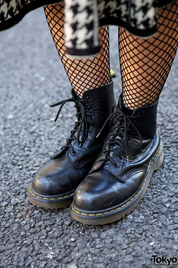Fishnet Stockings & Dr. Martens Boots