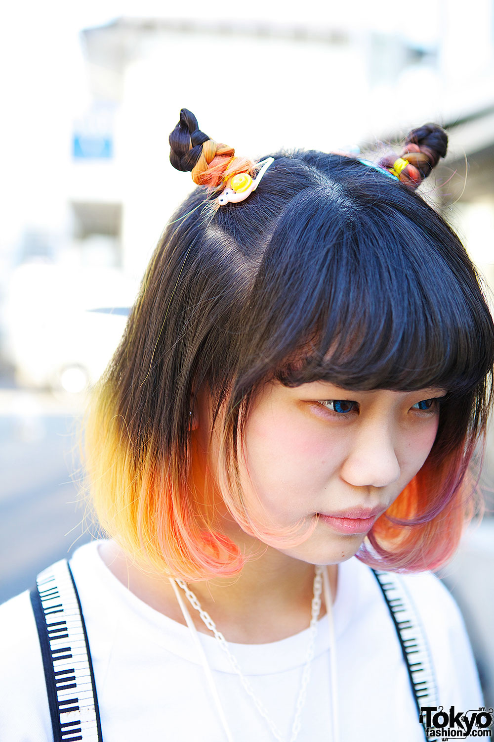 Ombre Bob Hair W The Circus Harajuku Socks Striped Boots