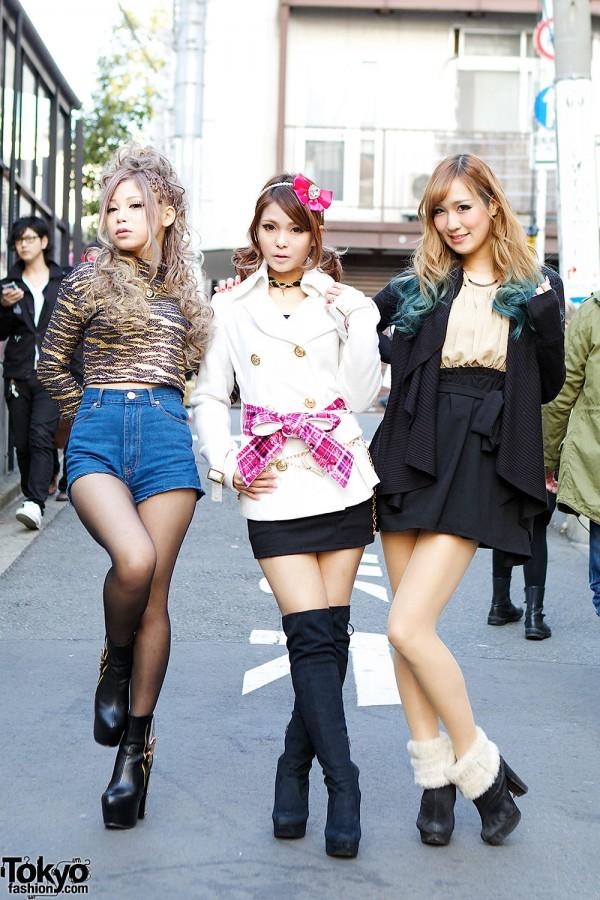 Harajuku Models in MA*RS, Fig&Viper, Lady Made, Dip Dye Hair & Bows