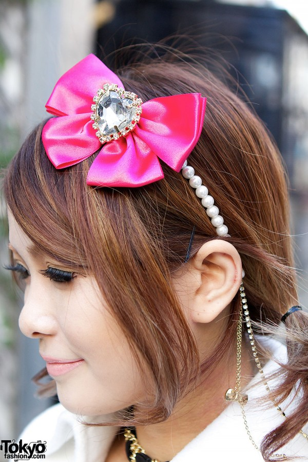 Pink Bow Hair Accessory