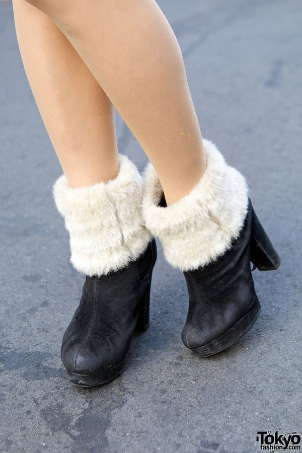 Shimamura Shoes with a Boot Cover