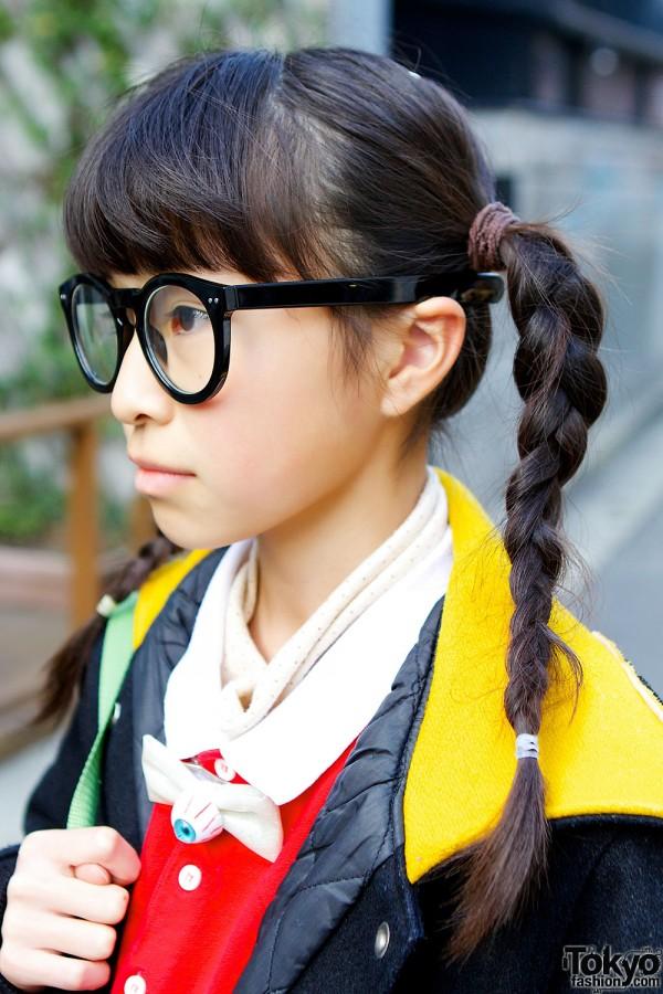 Braided Hair & Geek Chic Glasses