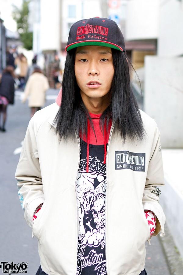 Harajuku Guy Wearing Buttstain