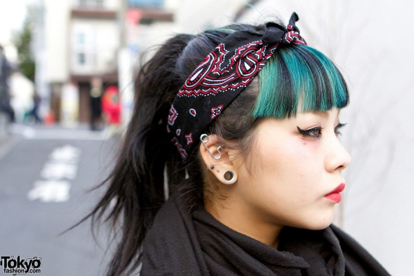 Green Hair & Headscarf