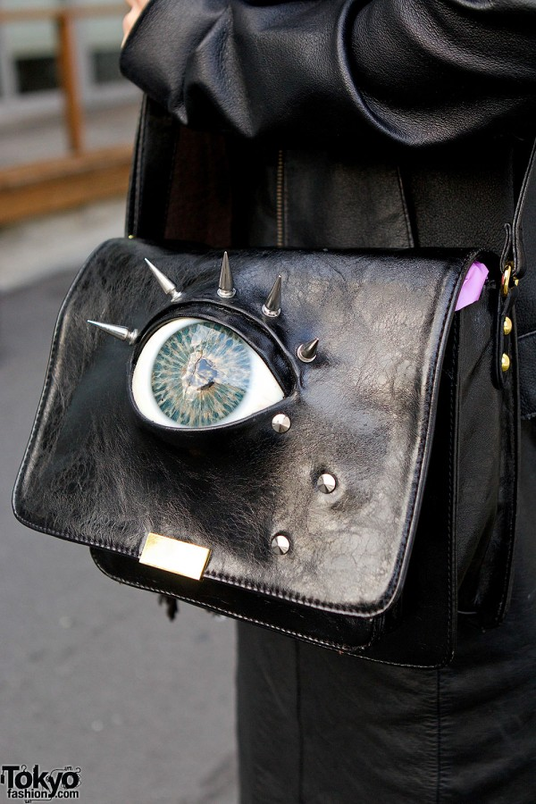 Handmade Bag With Spikes & Eye