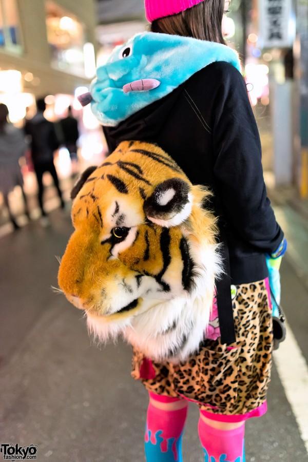 Tiger Backpack & Leopard Print