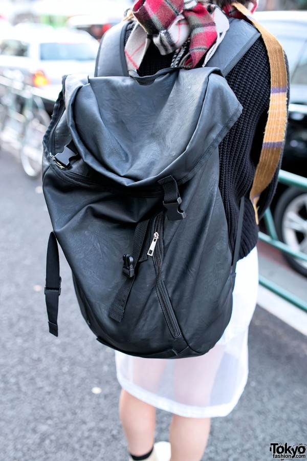 Girl With Large Backpack in Harajuku