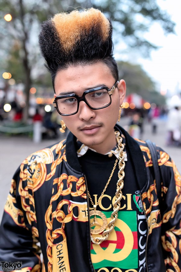 Hi-top Fade & Gold Chains in Tokyo