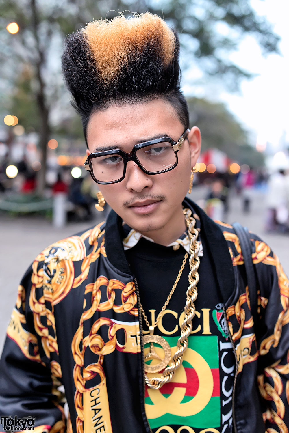 Hi Top Fade Gold Chains Amp 1980s Hip Hop Inspired Street Style