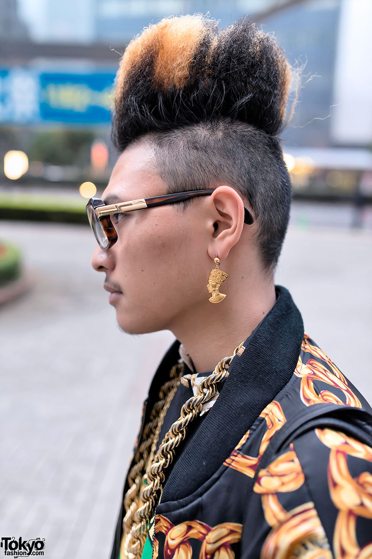 Astonishing Hi Top Fade Gold Chains Amp 1980S Hip Hop Inspired Street Style Short Hairstyles Gunalazisus
