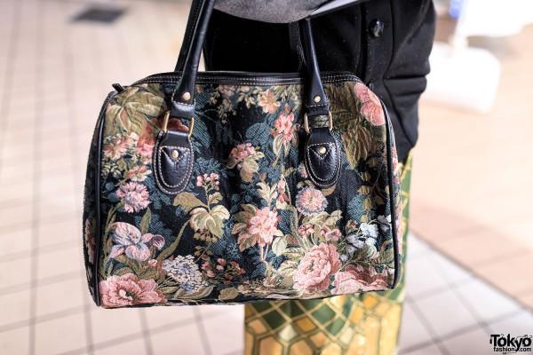 Floral Tapestry Bag