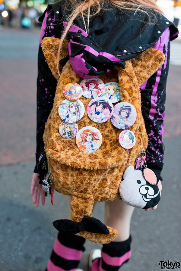 Manga Buttons Animal Backpack