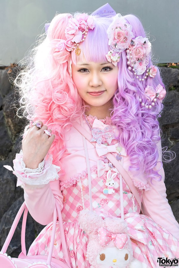 Sweet Lolita With Pink & Purple Hair