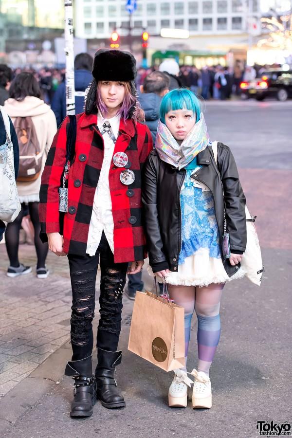 Devilish Designers w/ Metallic Muffler, Spikes & Leather Harness in Shibuya