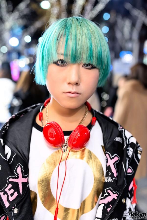 Short Aqua Green Hairstyle