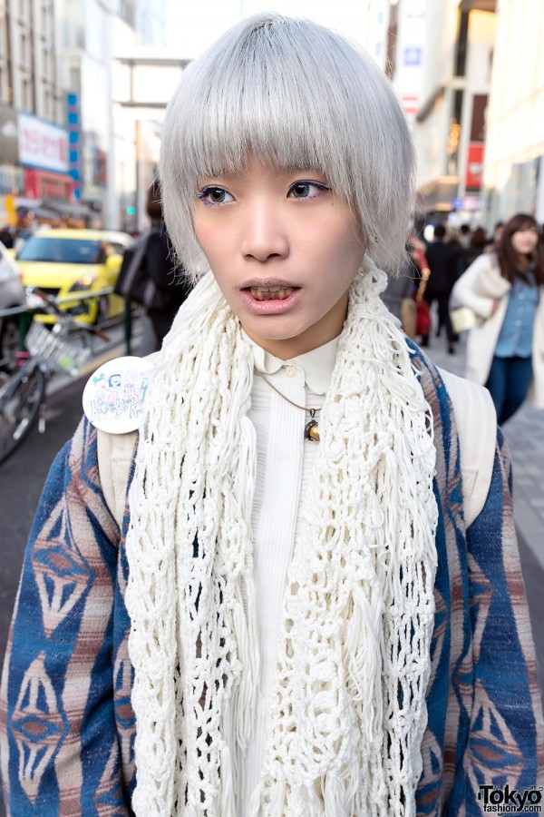 Knit Scarf in Harajuku