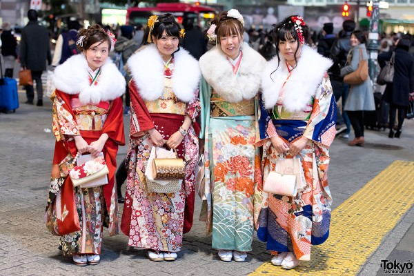 Coming of Age Day Kimono in Japan (2)