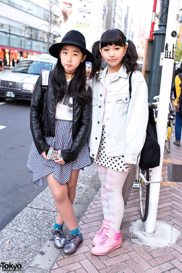 Monroe & Betty w/ Denim & Leather Jackets, Spank! & Bubbles Harajuku