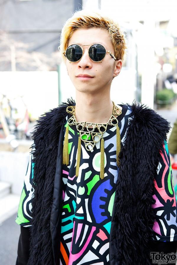 Round Sunglasses & Monomania Necklace