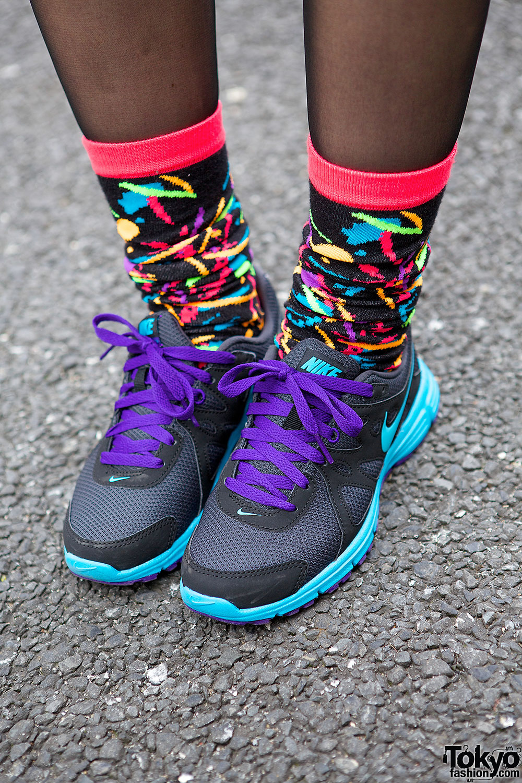 Nike Sneakers Amp Colorful Socks Tokyo Fashion News