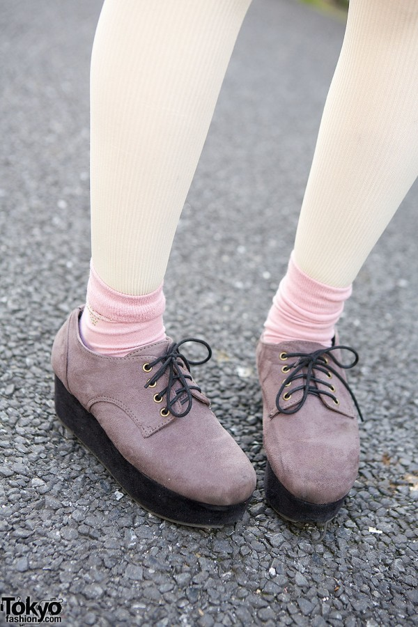 Lilac Lace-up Shoes
