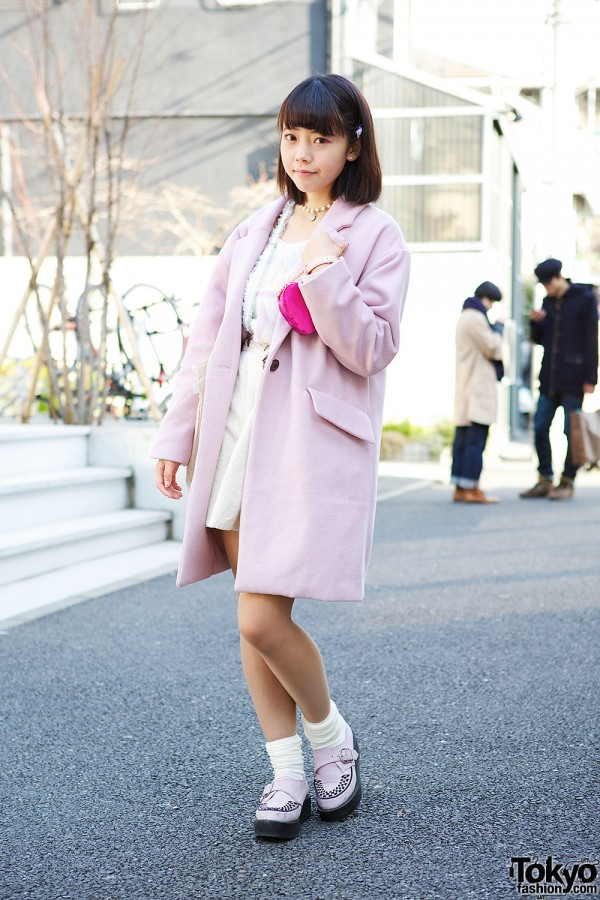 Japanese Idol in Cute Pastel Fashion